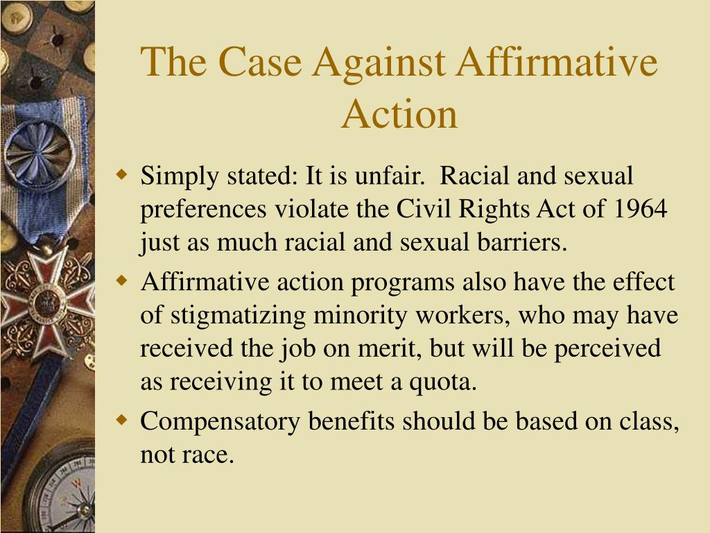 The Case Against Affirmative Action