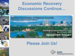 economic recovery discussions continue