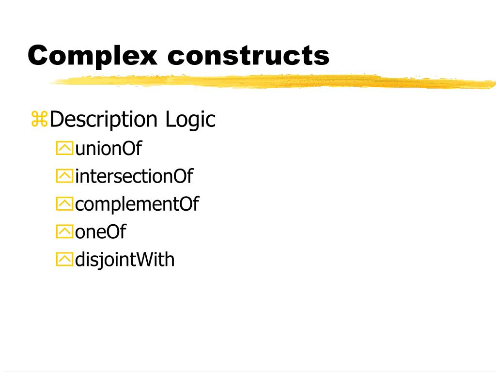 Complex constructs