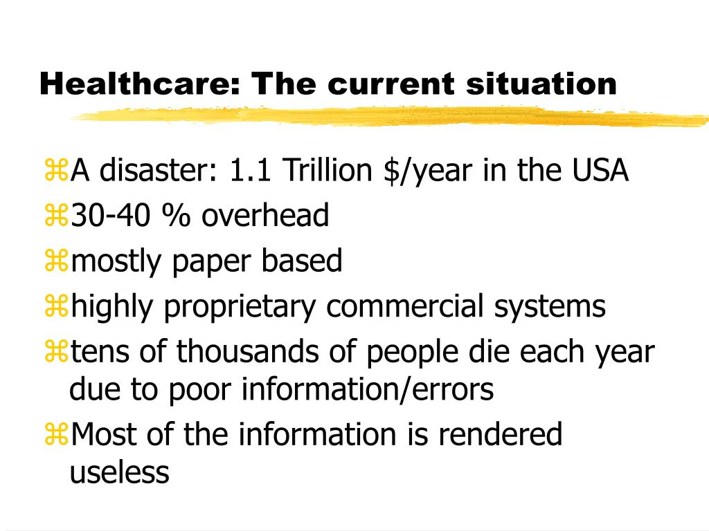 Healthcare: The current situation