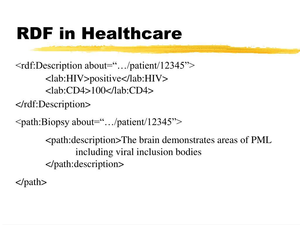 RDF in Healthcare