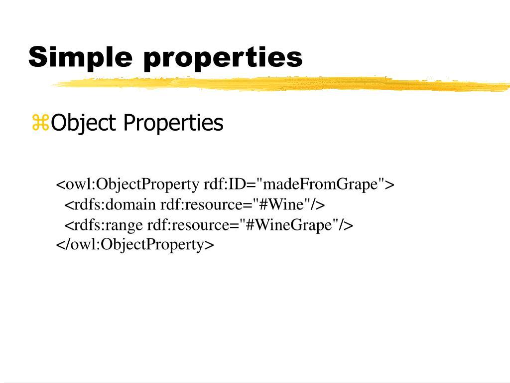 Simple properties