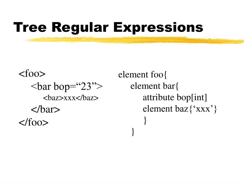 Tree Regular Expressions