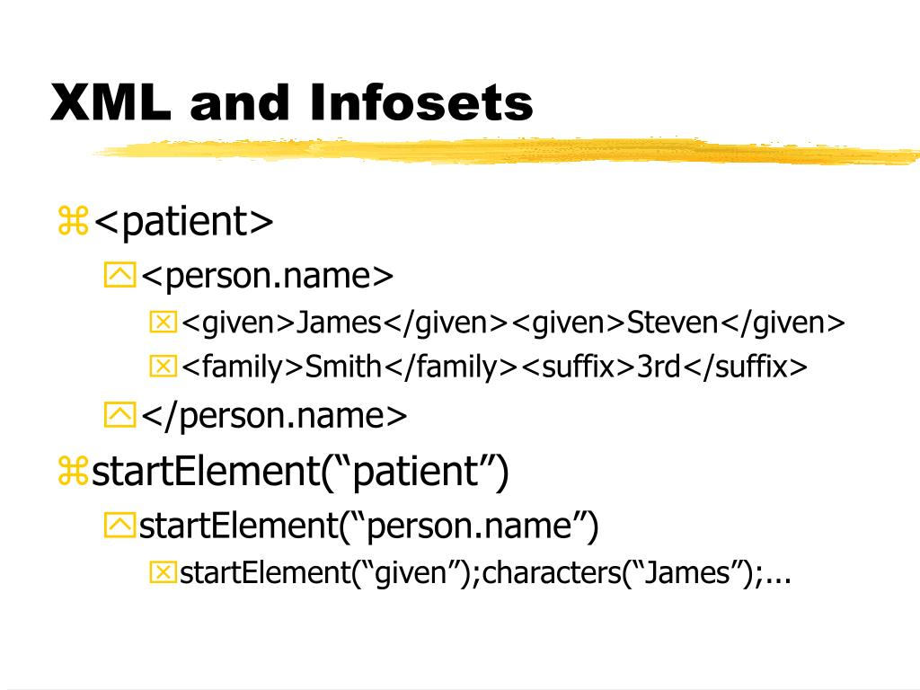 XML and Infosets