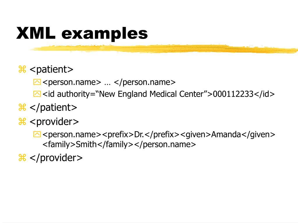 XML examples