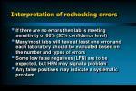 interpretation of rechecking errors