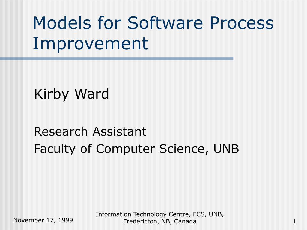 models for software process improvement l.