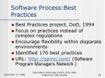 software process best practices