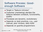 software process good enough software32