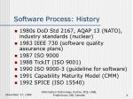 software process history