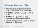 software process iso