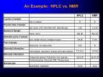 an example hplc vs nmr