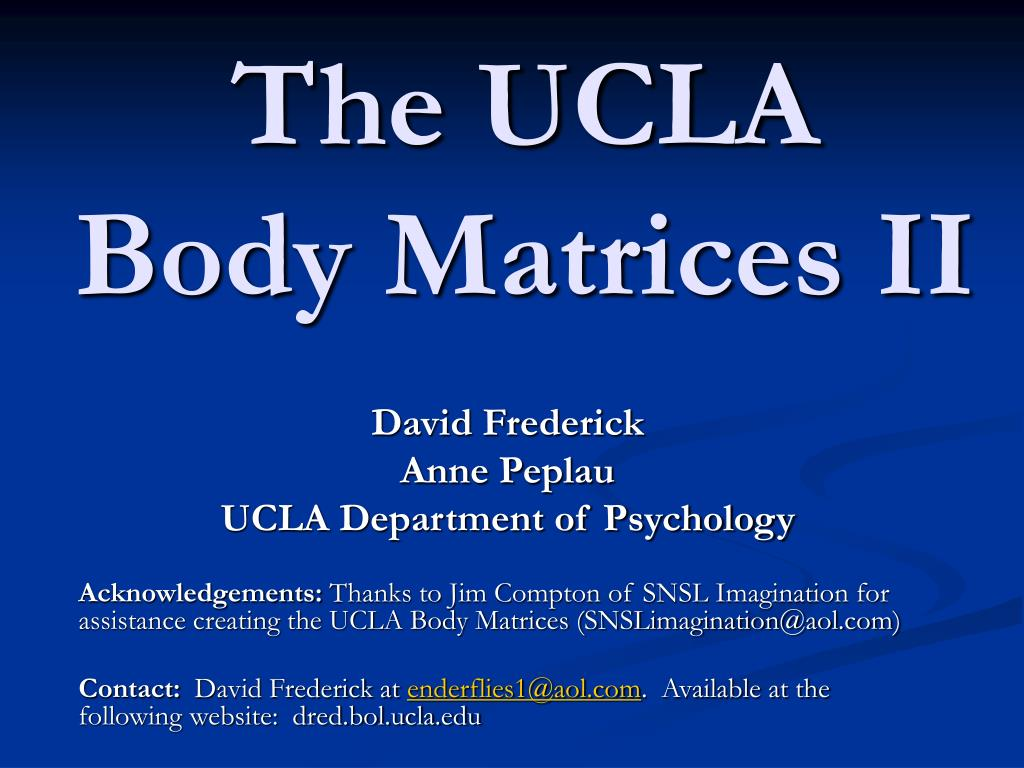 the ucla body matrices ii l.