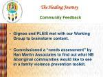 the healing journey community feedback