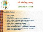 the healing journey contents of toolkit