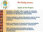 the healing journey goals of the project