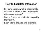 how to facilitate interaction