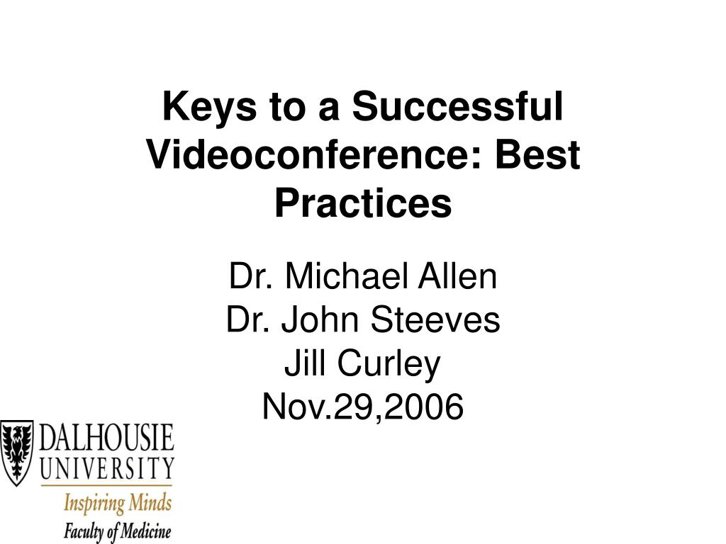 keys to a successful videoconference best practices l.