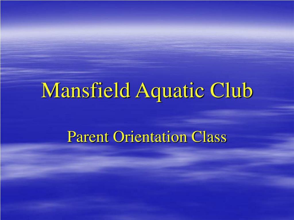 mansfield aquatic club l.