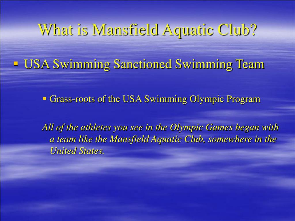 What is Mansfield Aquatic Club?