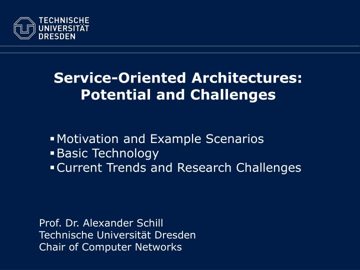 Service oriented architectures potential and challenges
