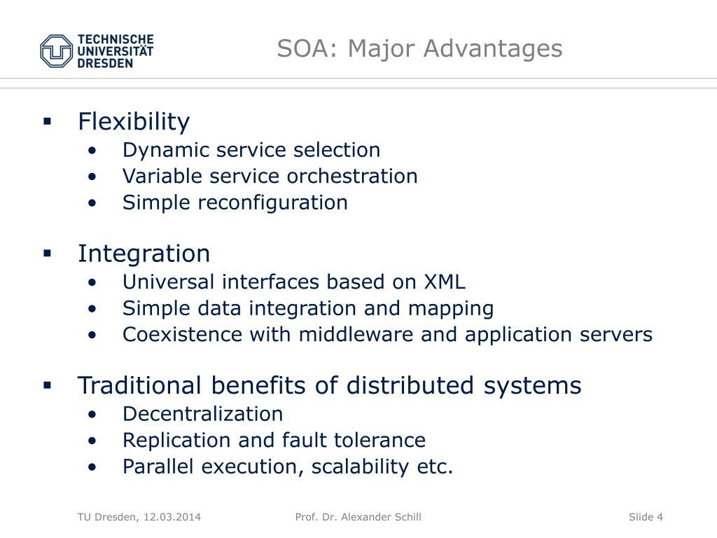 SOA: Major Advantages