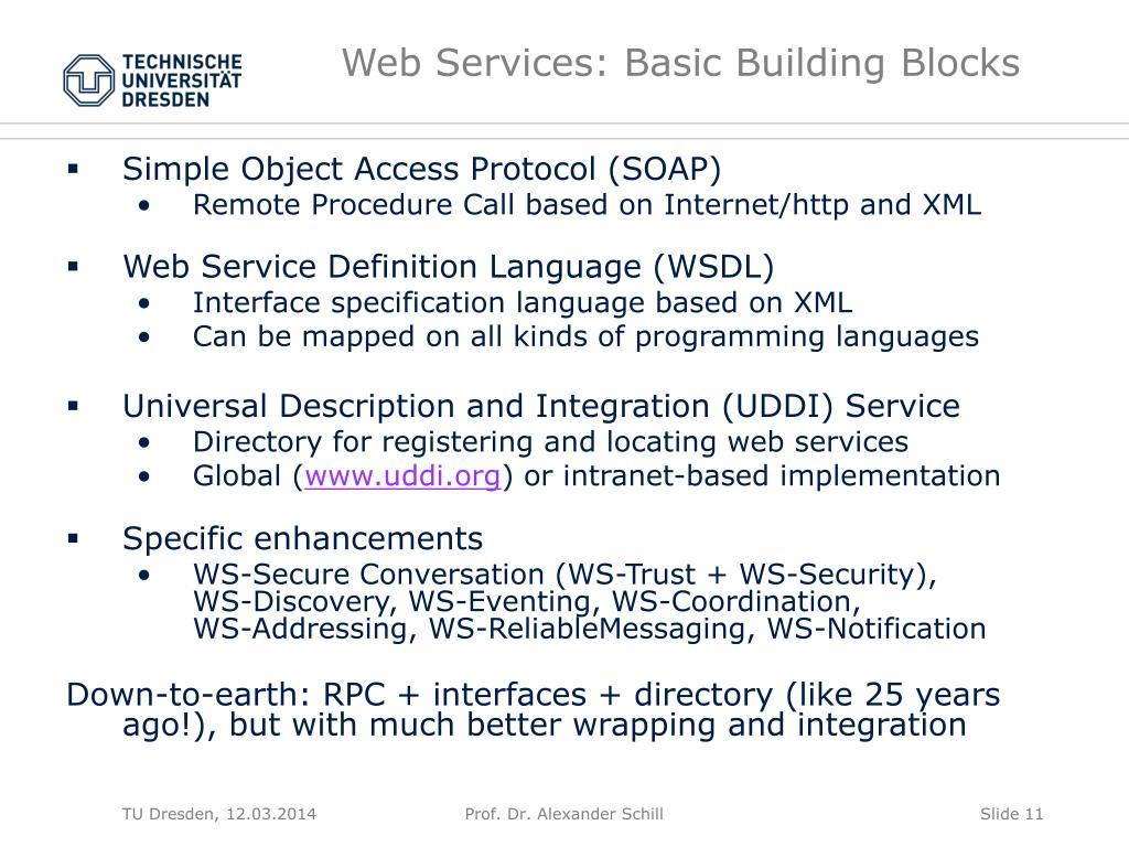 Web Services: Basic Building Blocks