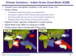 climate variations indian ocean zonal mode iozm