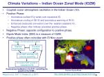 climate variations indian ocean zonal mode iozm36
