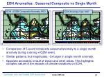 edh anomalies seasonal composite vs single month