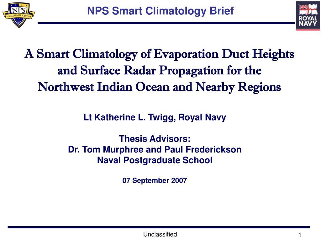 nps smart climatology brief l.