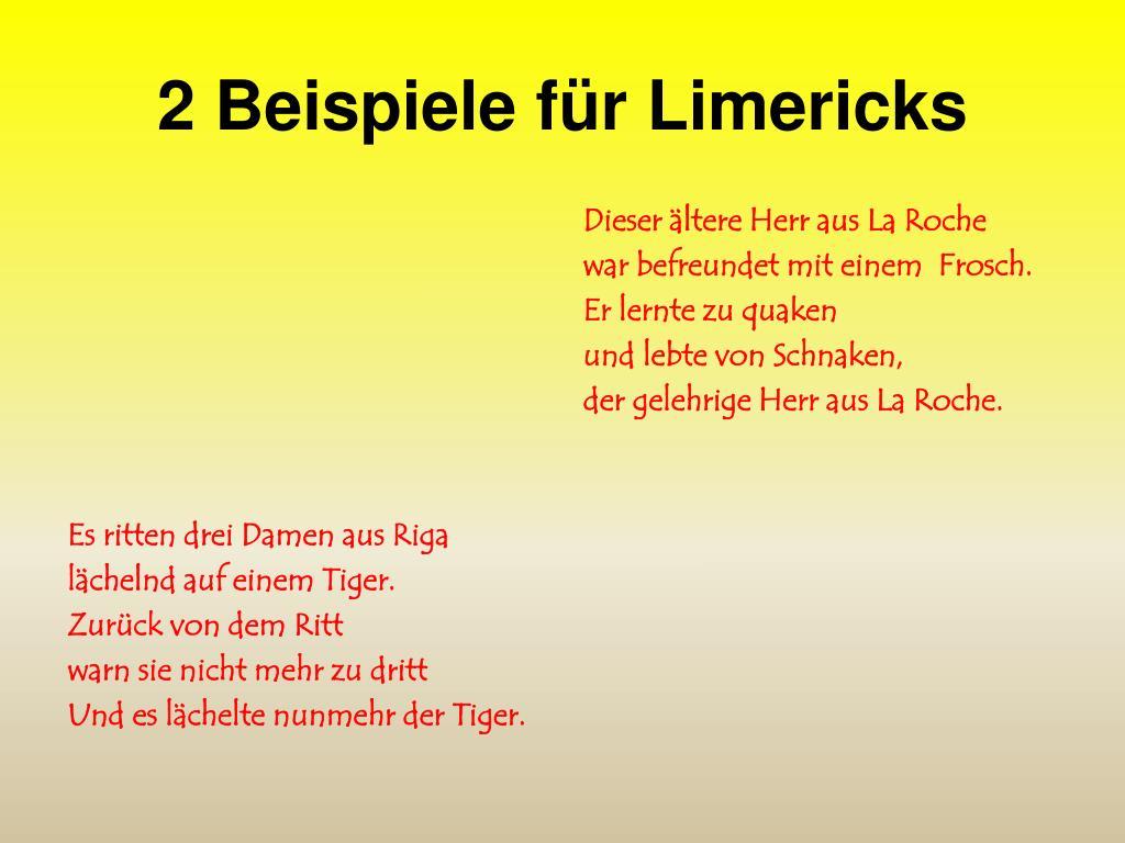 Limerick Beispiel