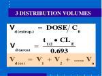 3 distribution volumes