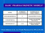 basic pharmacokinetic models