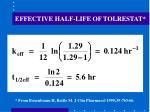 effective half life of tolrestat