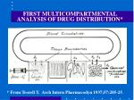 first multicompartmental analysis of drug distribution