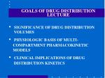goals of drug distribution lecture