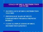 goals of drug distribution lecture18
