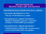 mechanisms of transcapillary exchange52