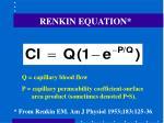 renkin equation