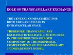 role of transcapillary exchange