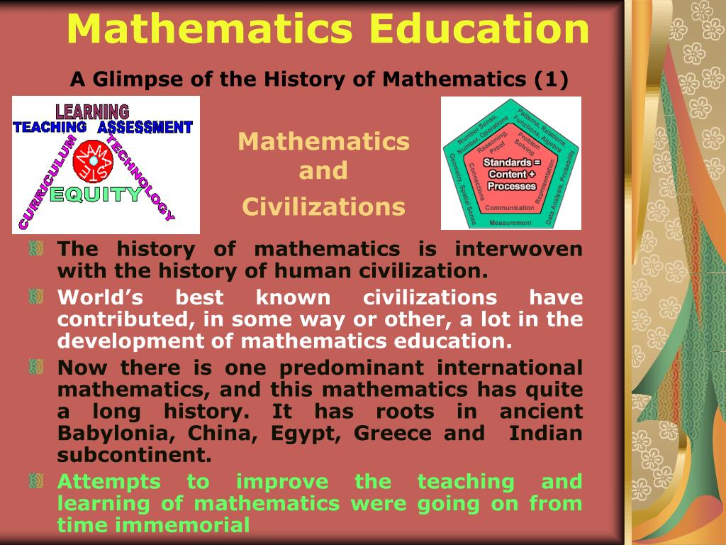 A Glimpse of the History of Mathematics (1)