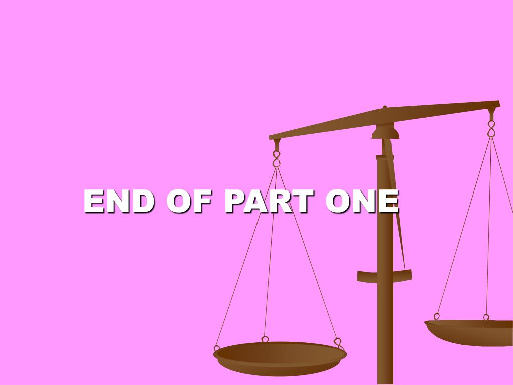 END OF PART ONE