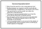 sociocomputationalism
