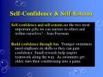 self confidence self esteem