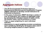 aggregate indices