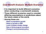 cost benefit analysis multiple scenarios