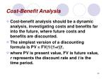 cost benefit analysis39