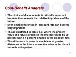 cost benefit analysis41
