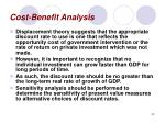 cost benefit analysis43